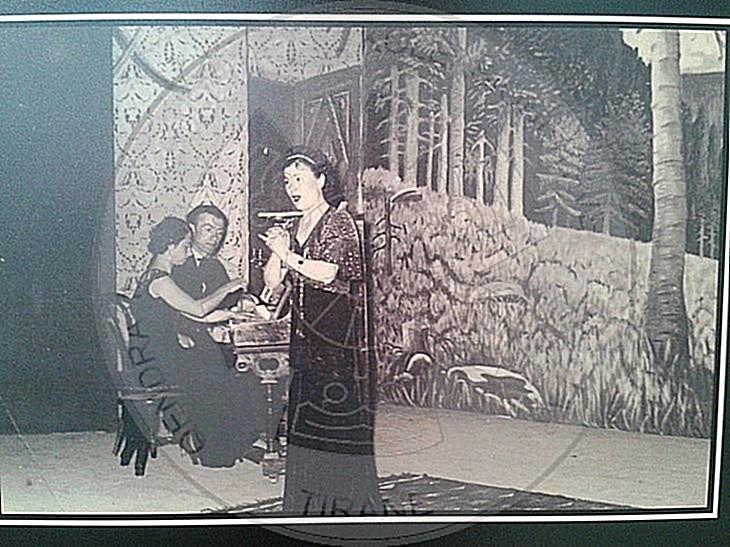February 18th, 1937, charity concert of Tefta Tashko singer